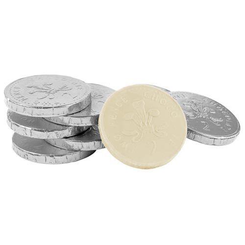 WHITE CHOCOLATE COINS