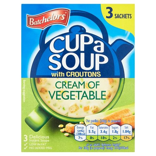Batchelors Cup A Soup Cream of Vegetable 3 X 32g