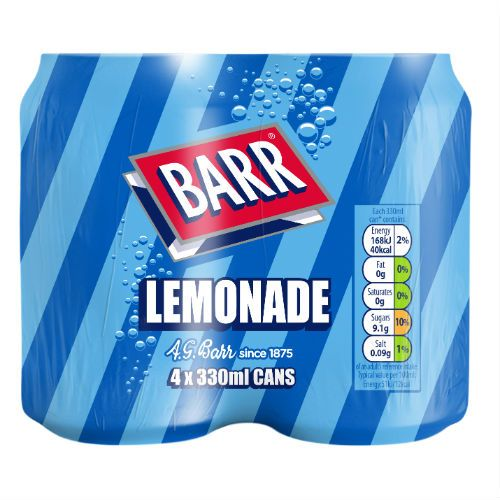 BARR LEMONADE 4 X 330ML