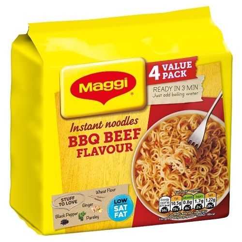 Maggi 3 Minute Instant Beef Noodles 4 Pack