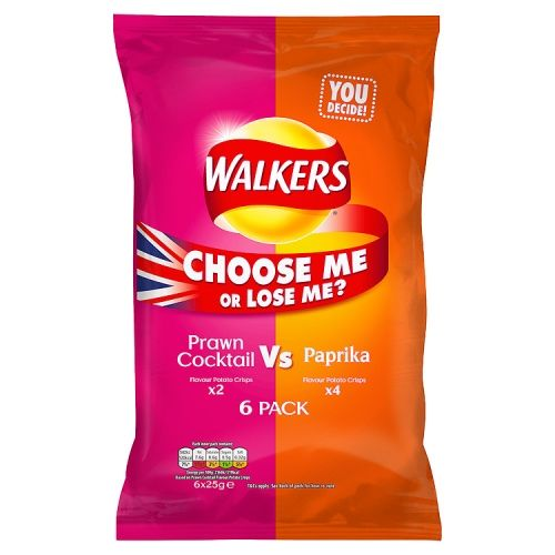 6PK WALKERS PRAWN C VS PAPRIKA