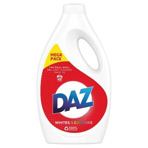 DAZ WASHING LIQUID WHITES & COLOURS 1.715L