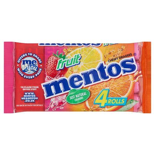 Mentos Fruit 3+1 Roll Free