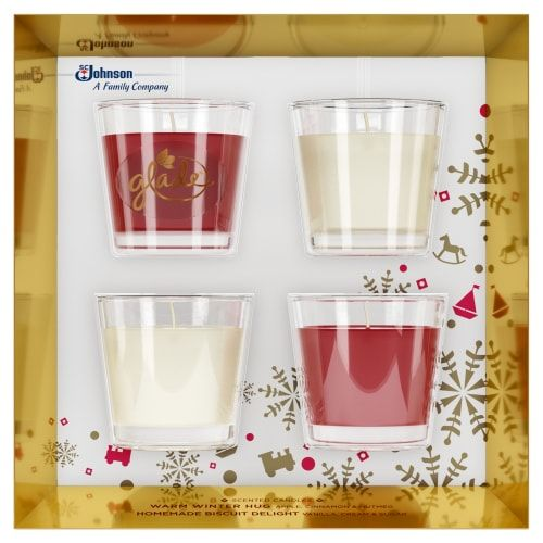 GLADE APPLE AND VANILLA CANDLE GIFT SET 2X70G