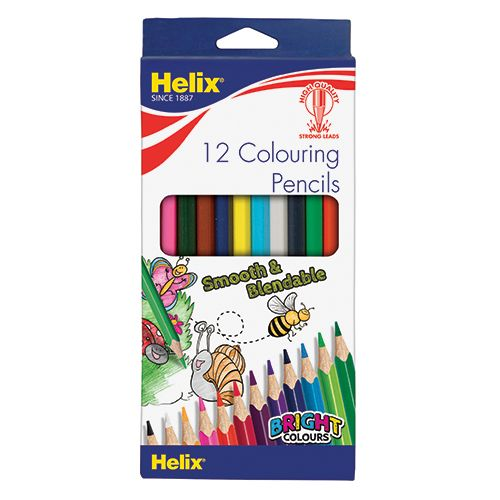 HELIX COLOURING PENCILS 12 PACK