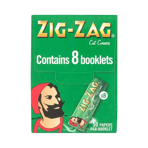 Zig Zag Green Rolling Papers 8pk