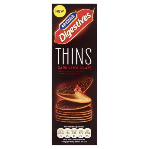 MCVITIE'S DIGESTIVES THINS DARK CHOCOLATE 180G