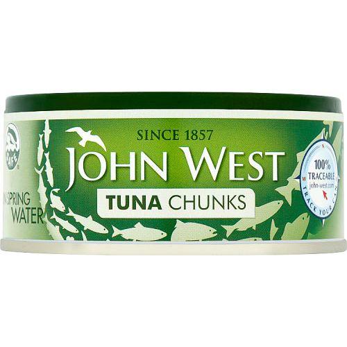 JOHN WEST TUNA IN SPRING WATER 145G