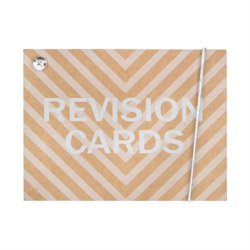 Monochrome Revision Cards