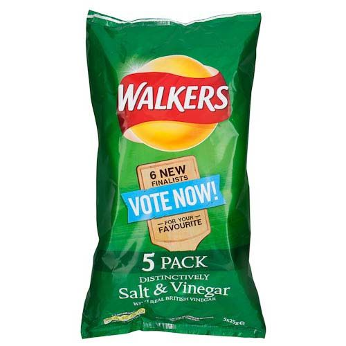 WALKERS SALT & VINEGAR 5 PACK