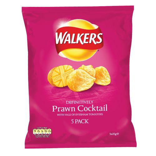 Walkers Prawn Cocktail Crisps 5 Pack