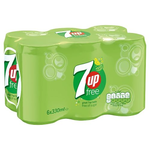7up Free Sparkling Lemon & Lime Can 6x330ml