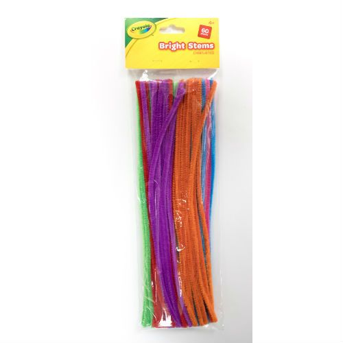 CRAYOLA BRIGHT PIPECLEANER 60P