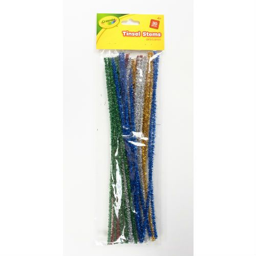 CRAYOLA TINSEL PIPECLEANER 30P