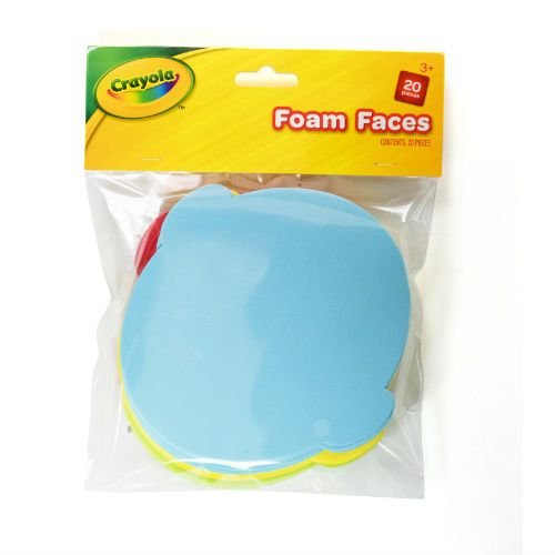 CRAYOLA FOAM FACES 20PK