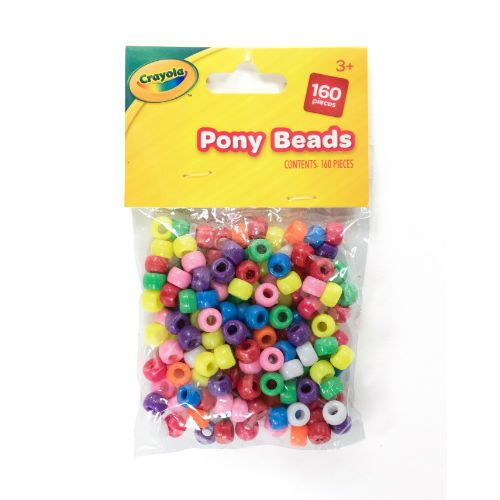 CRAYOLA PONY BEADS 100PK