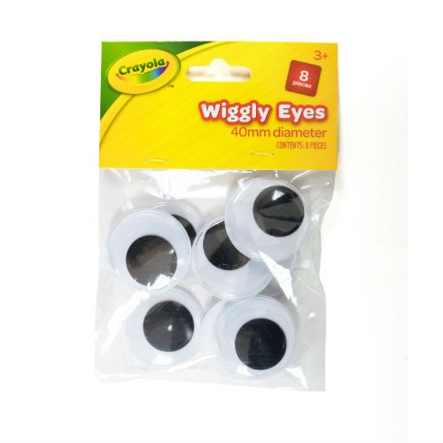 CRAYOLA LARGE WIGGLY EYES 8PK