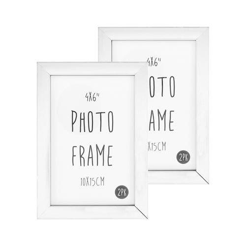 """Photo Frame 6x4"""" White 2 Pack"""