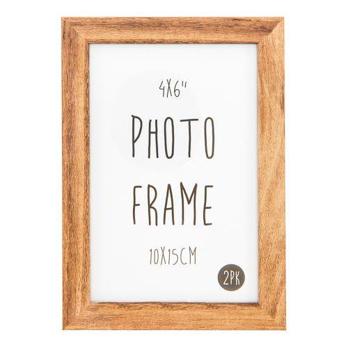 Photo Frame 6x4 Oak 2pk