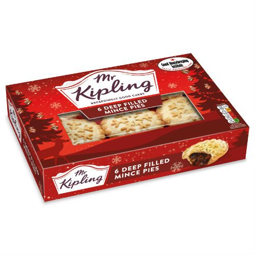 Mr Kipling Mince Pies 6 Pack