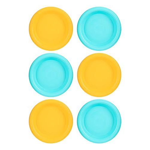 6PK PLASTIC PLATES