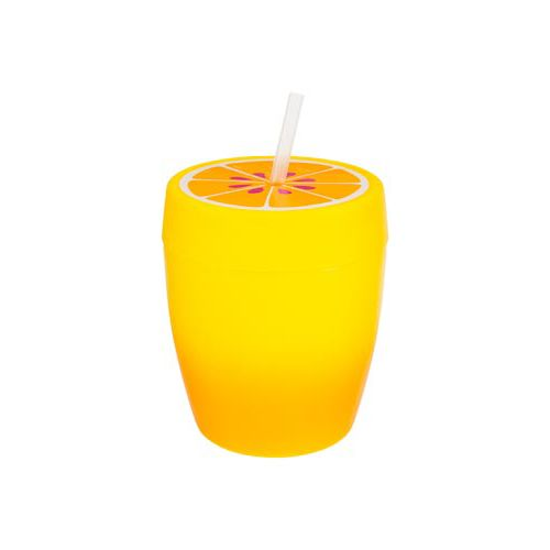 FRUIT CUP WITH STRAW