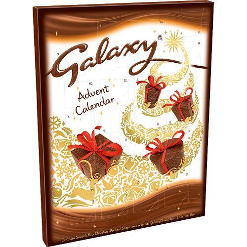 GALAXY SMOOTH MILK CHOCOLATE ADVENT CALENDAR 110G