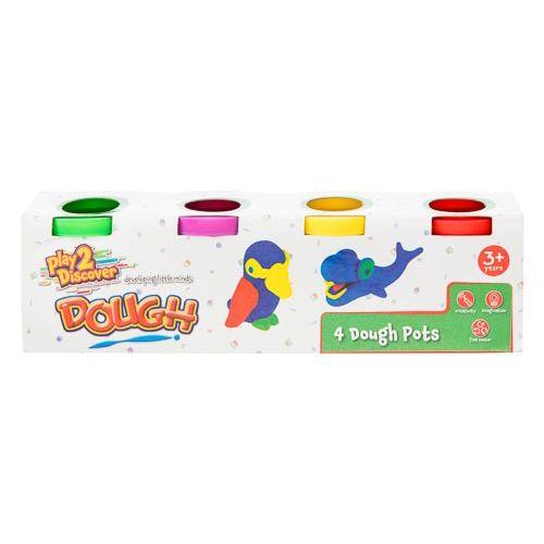 Play&learn 4 Mini Dough Pots