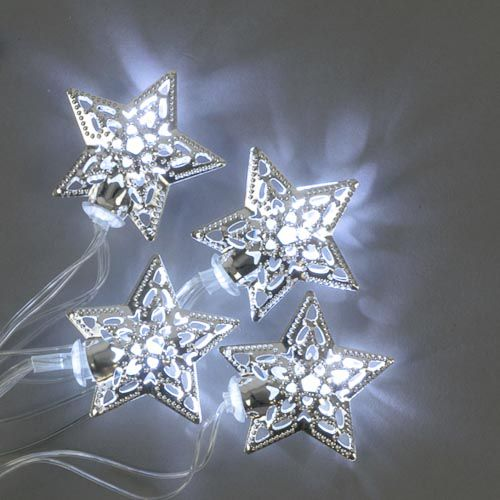 METAL 8 PACK/ WOODEN 6 PACK STAR LIGHTS