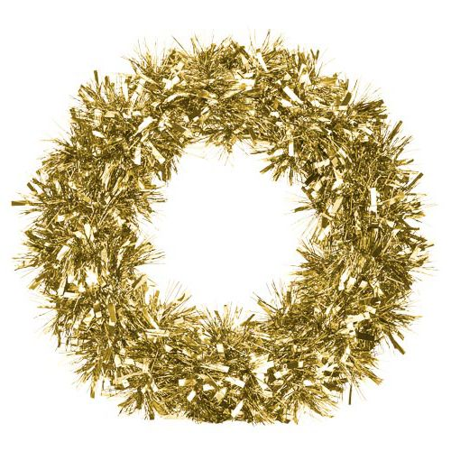 RED AND GOLD MIX TINSEL WREATH