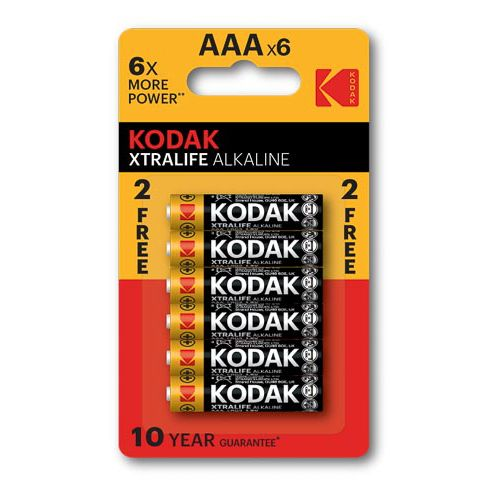 Kodak Xtralife Battery Aaa 4+2