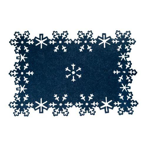 NAVEY FELT SNOWFLAKE PLACEMAT
