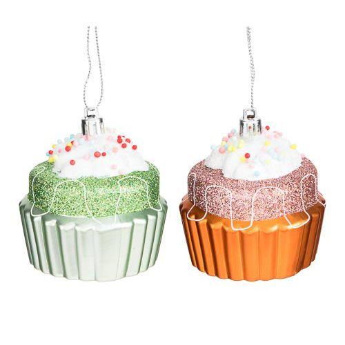 Cupcake Tree Decoration 2 Pack