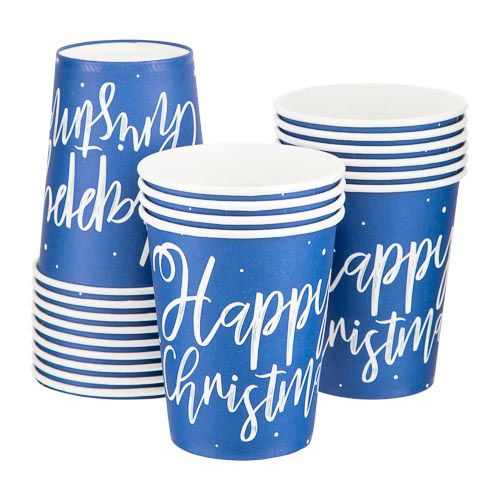 CHRISTMAS PAPER CUPS 20 PACK