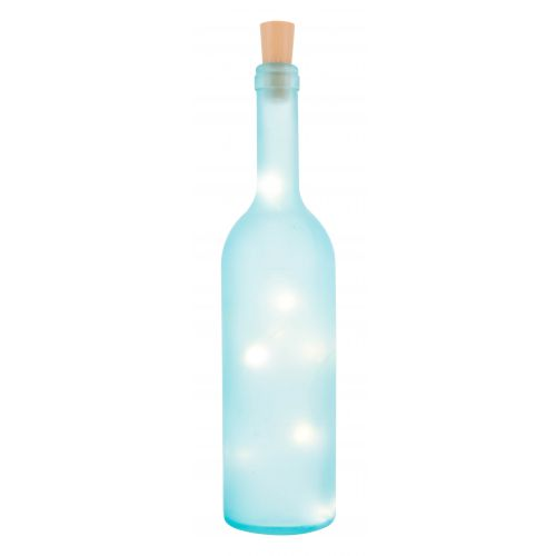 FROSTED LIGHT UP WINE BOTTLE