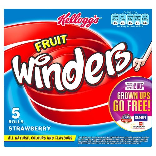 Fruit Winders Double Strawberry 5x17g 5pk