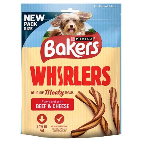 Bakers Whirlers Dog Bacon 130g