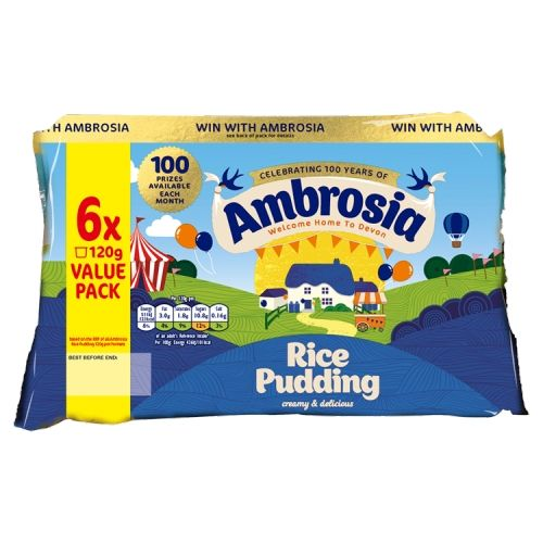 AMBROSIA RICE PUDDING 6X120G
