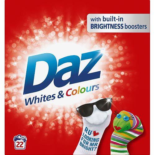 DAZ WASHING POWDER WHITES AND COLOURS 1.43KG