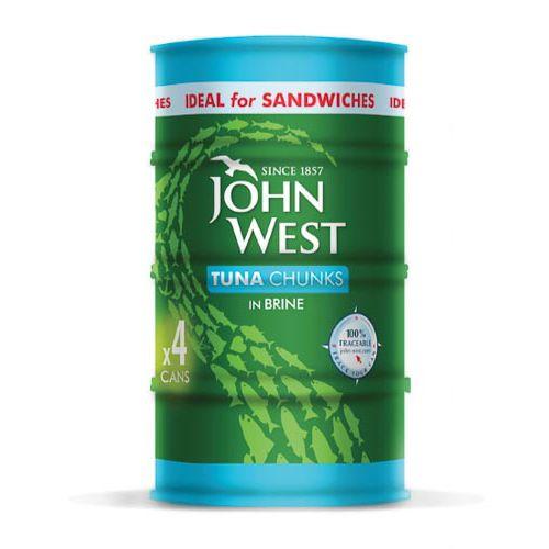 John West Tuna Chunks In Brine 4 Pack