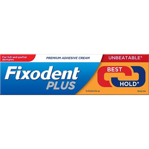 FIXODENT PLUS BEST HOLD PREMIUM DENTURE ADHESIVE