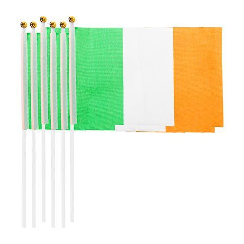 ST PATRICKS HAND FLAGS 6 PACK