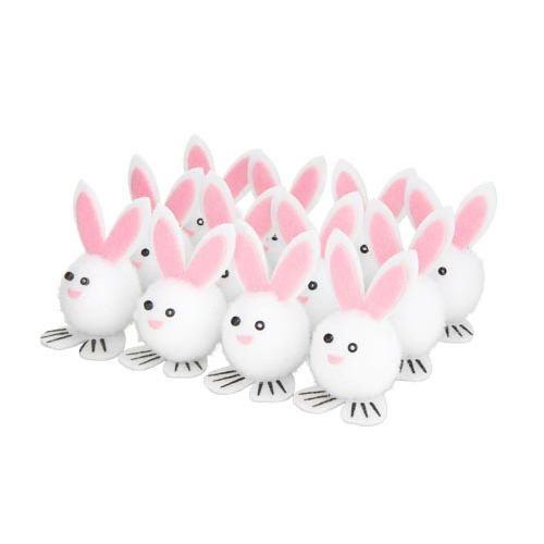 12PK BUNNY DECORATIONS