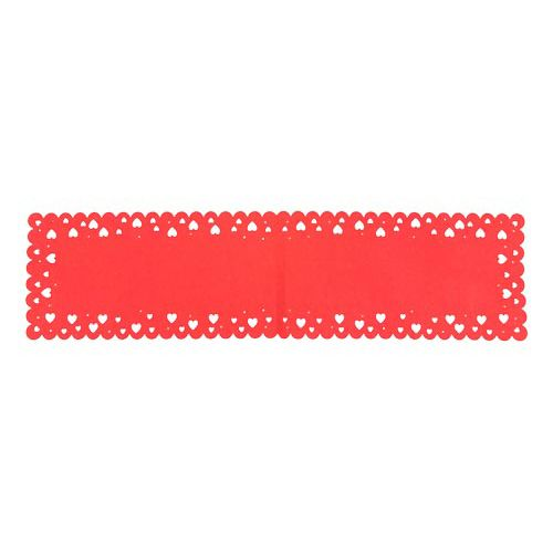 HEART SHAPED CUT OUT TABLE RUNNER