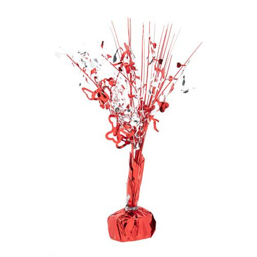 RED/SILVER TABLE DECORATION