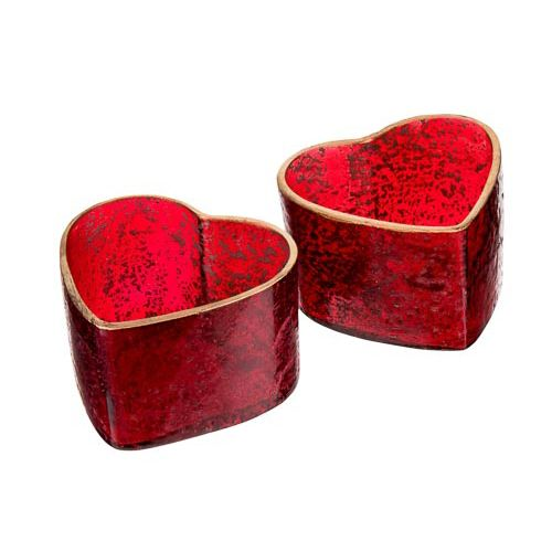 RED GLASS VOTIVE - 2 PACK