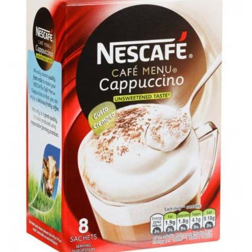 Nescafe Cappuccino Unsweetened 8 Pack