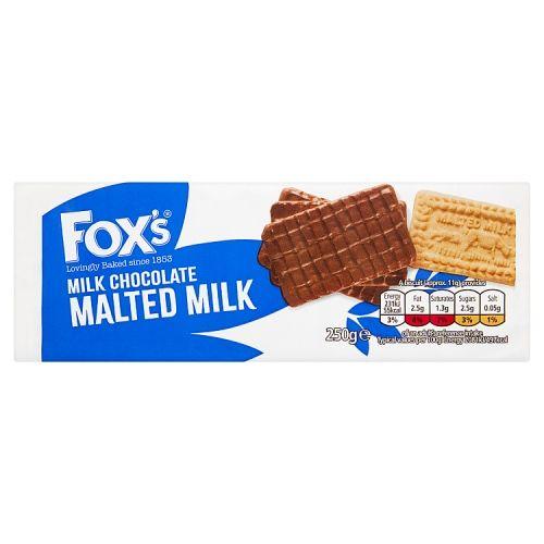 Fox's Half Chocolate Coated Malted Milk 250g