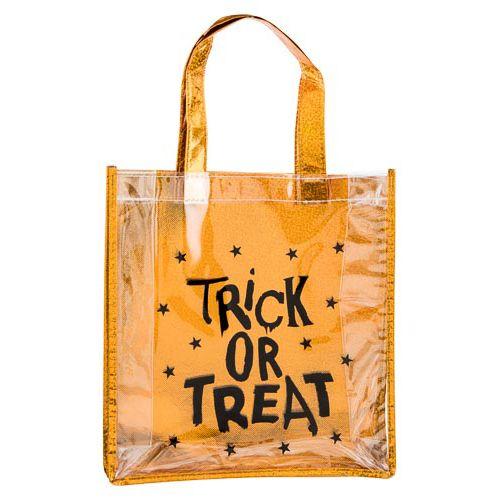 Clear Spider Web Print Loot Bag
