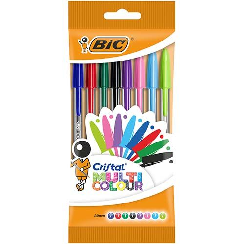 Bic Crystal Pen Multicoloured 8 Pack